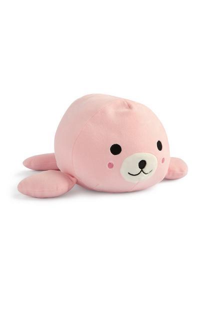 Roze zeehondenknuffel