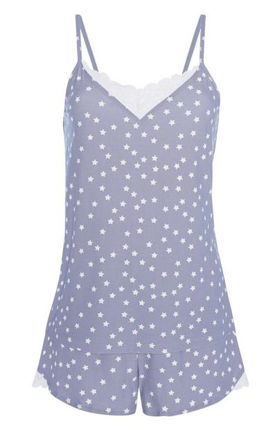 Pyjama short à motif étoiles