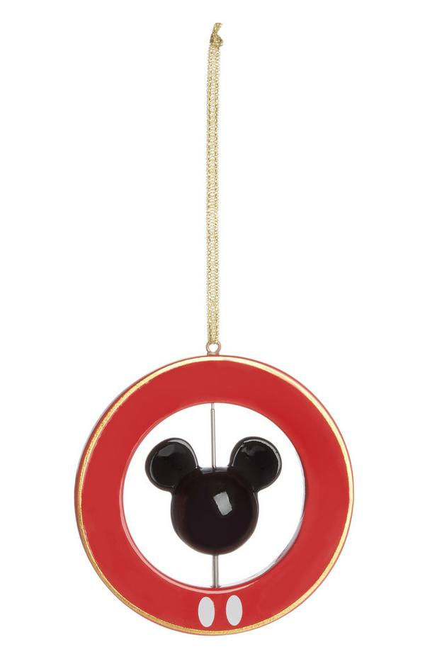 Rode ronde kerstboomversiering Mickey Mouse
