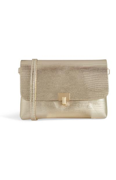 Gold Croc Bag