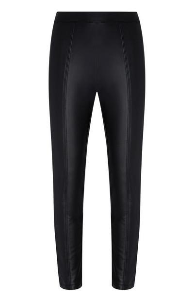 Black Pu Trousers