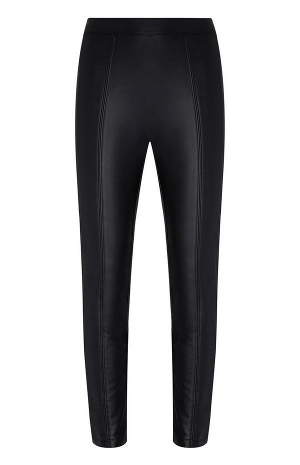 Pantalón negro de poliuretano