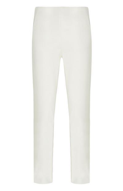 Calças corte justo branco
