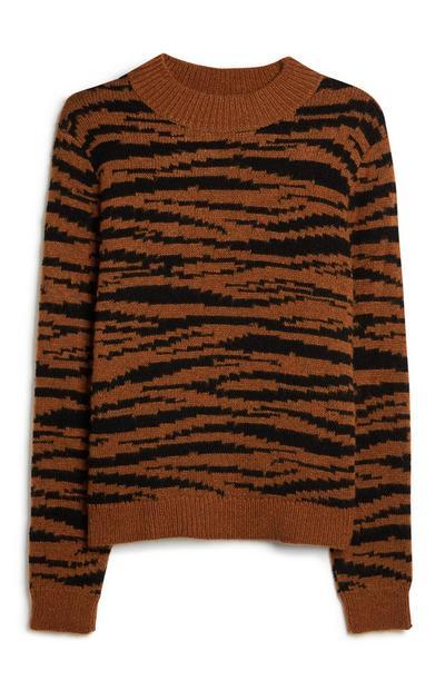 Jersey con estampado de tigre