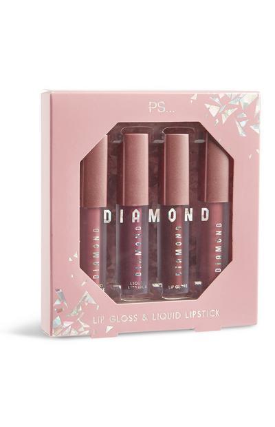 Pack de 4 brillos de labios «Diamond»