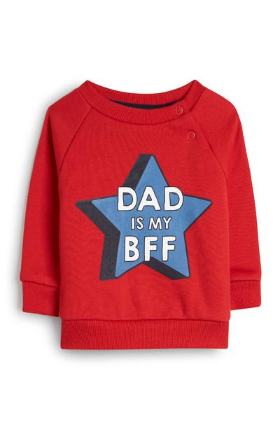 Baby Boy Red Dad Is My BFF Star Jumper