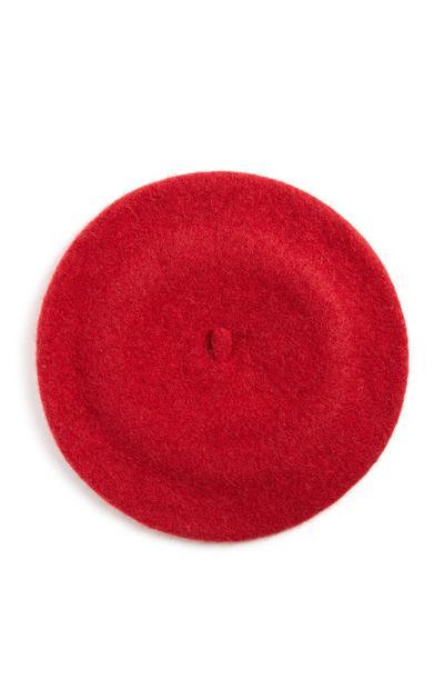 Rode wollen baret