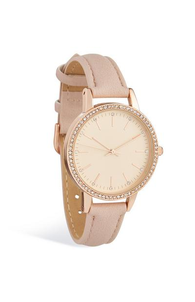 Diamante Face Wrist Watch