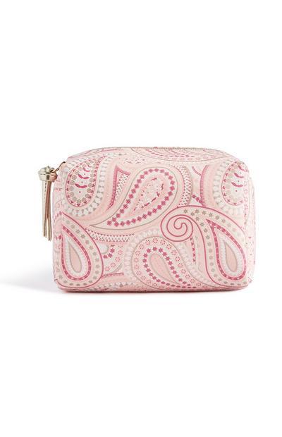 Pink Paisley Makeup Bag