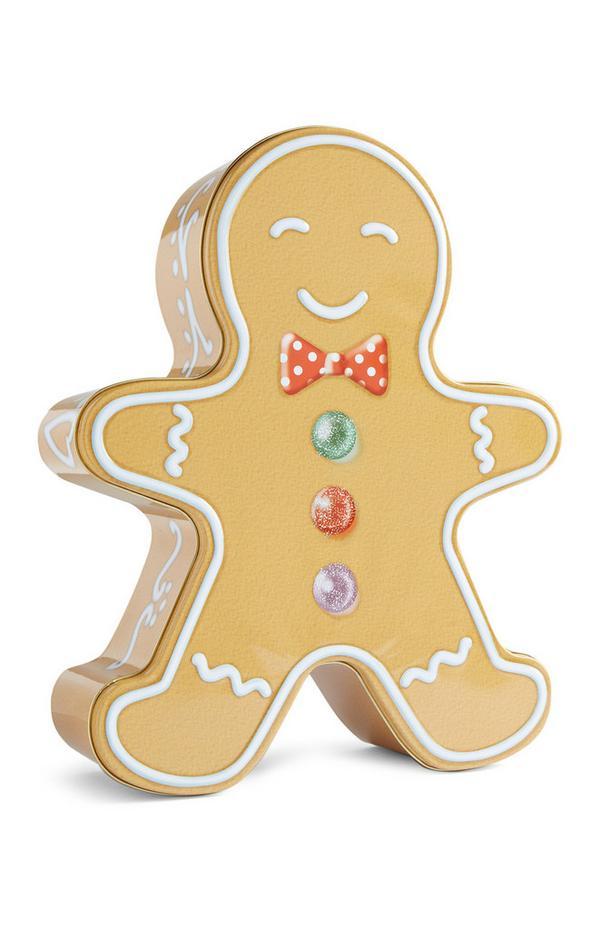 Lata biscoito homem gengibre