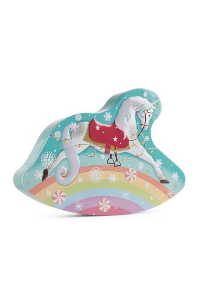 Scatola per biscotti unicorno