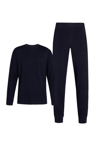 Camiseta y pantalón de chándal negros