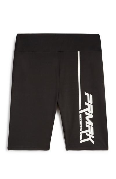 Pantalón corto negro con estampado PRMRK