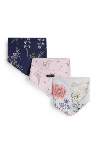 Pack 3 babetes padrão floral menina bebé