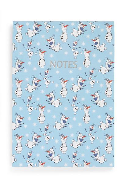 Quaderno con Olaf di Frozen