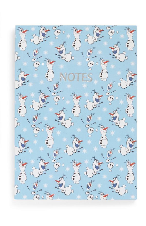 Bloco notas Frozen Olaf