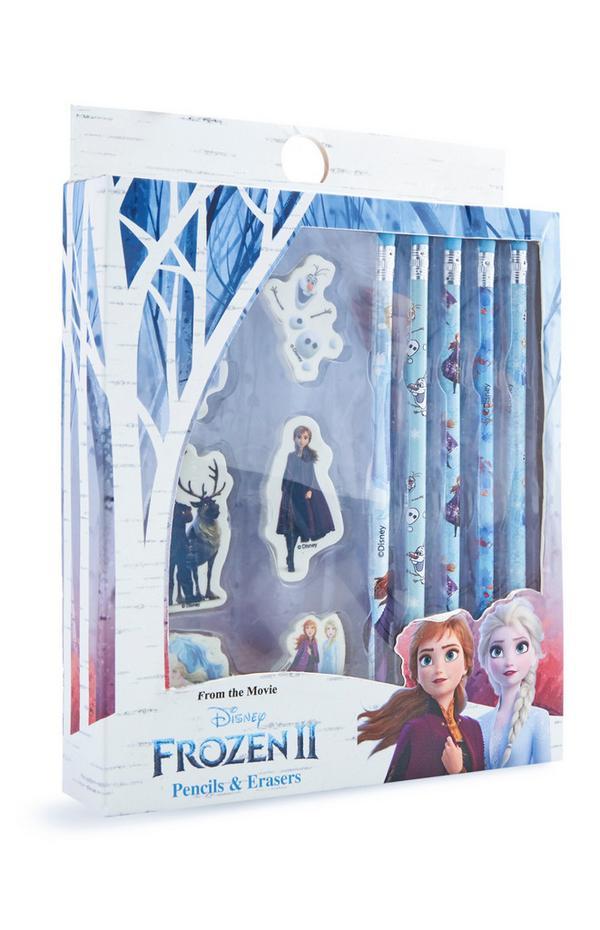Conjunto lápis/borracha Frozen