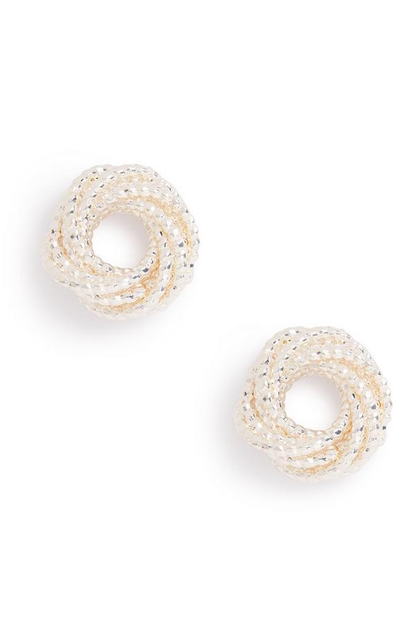 Runde Ohrringe in Silber
