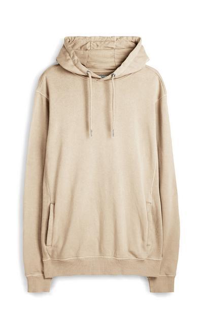 Beige premium hoodie