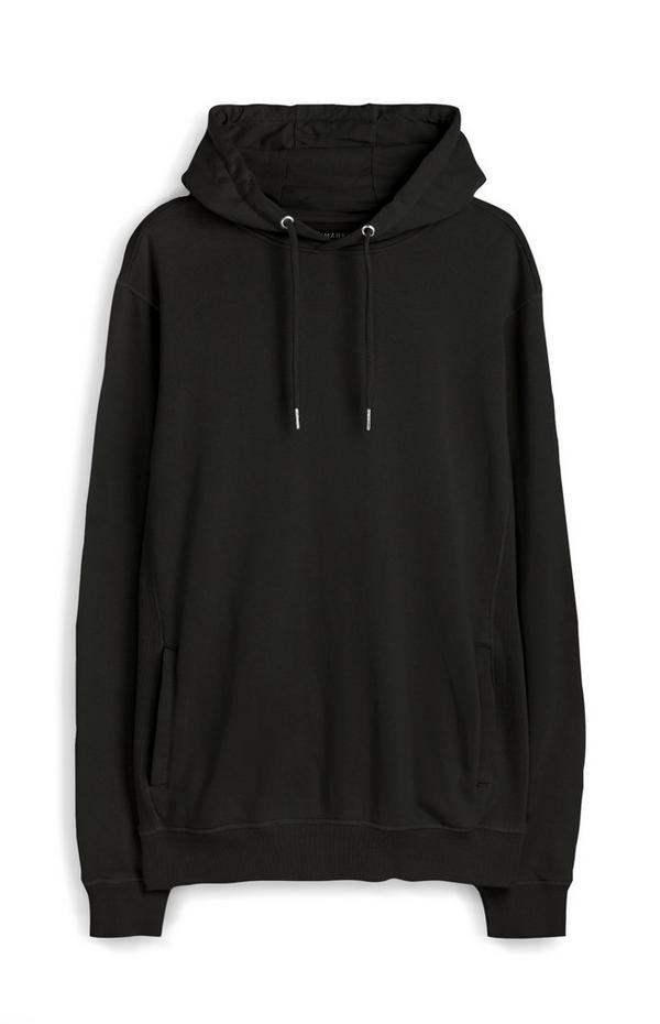 Schwarzer Premium-Kapuzenpullover