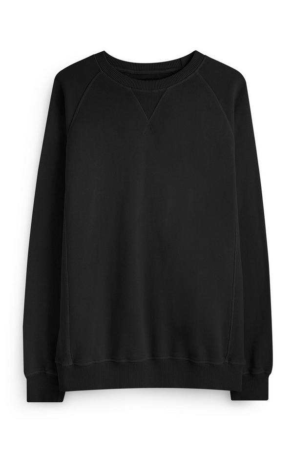 Zwarte trui met ronde hals