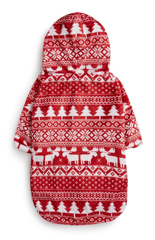 Red Fair Isle Dog Outfit