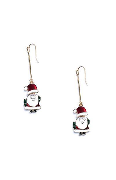 Orecchini con pendente Babbo Natale