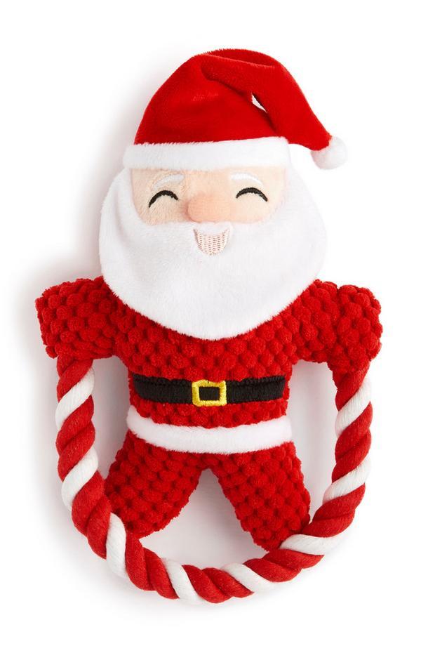 Giocattolo rosso Babbo Natale per animali domestici