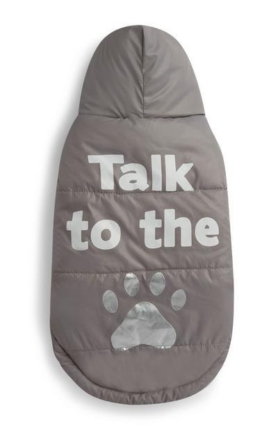 Conjunto para perro «Talk To The Paw» marrón claro