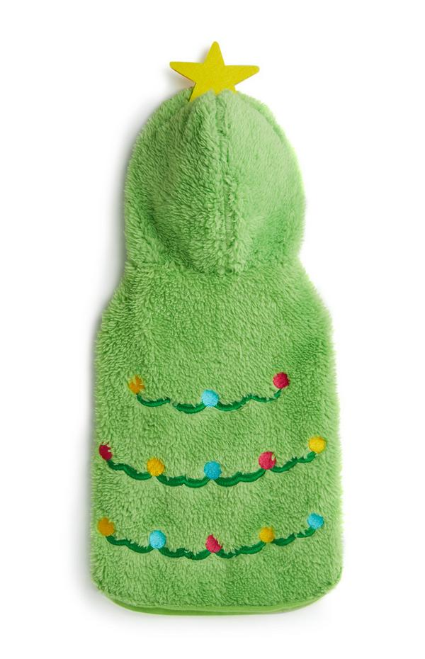 Conjunto árvore Natal cão verde