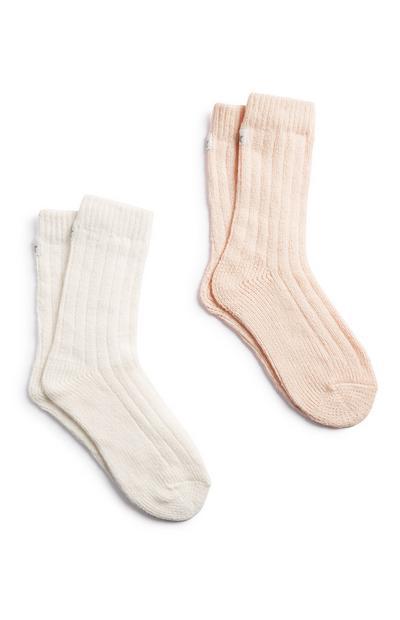 Weiche Crew-Socken, 2er-Pack