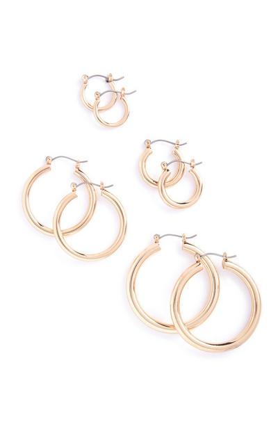4-Pack Hoop Earrings
