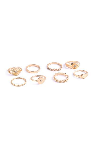 Pack de 8 anillos