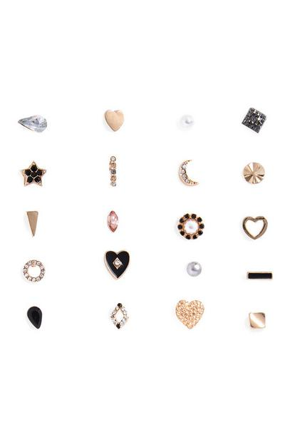 20-Pack Mixed Earrings