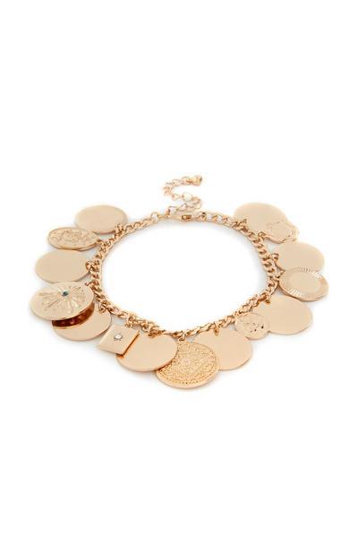 Zapestnica z obeski v obliki kovancev