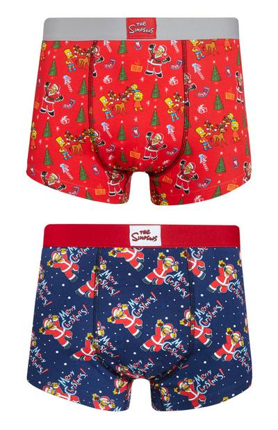 Pack 2 boxers Natal The Simpsons