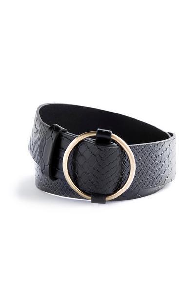 Cinturón texturizado negro