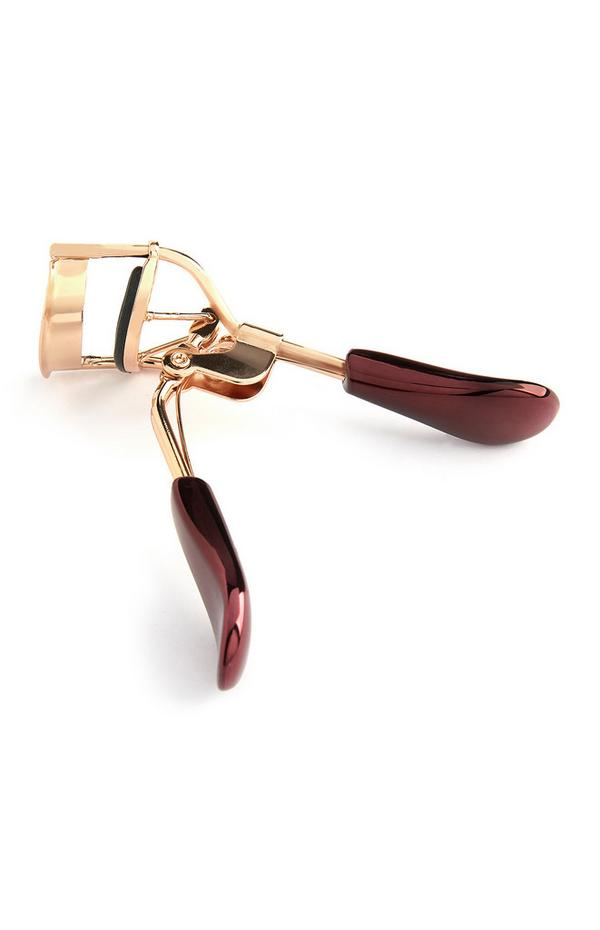 Burgundy and Gold Eyelash Curler
