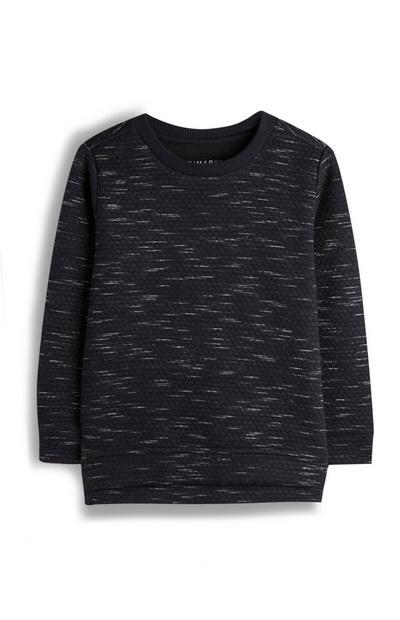 Dunkelgrau meliertes Sweatshirt (kleine Jungen)