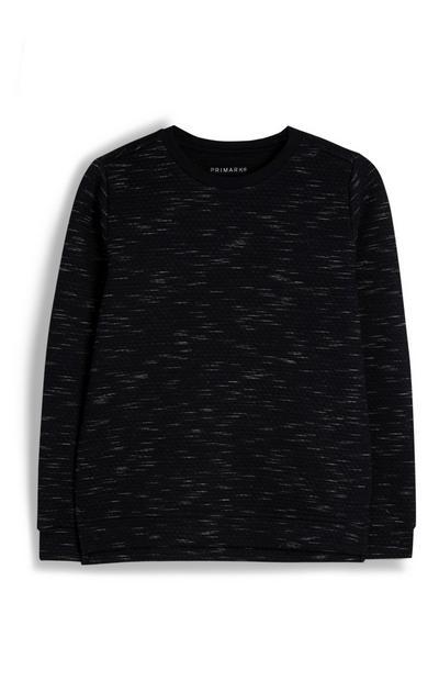 Schwarz meliertes Sweatshirt (Teeny Boys)