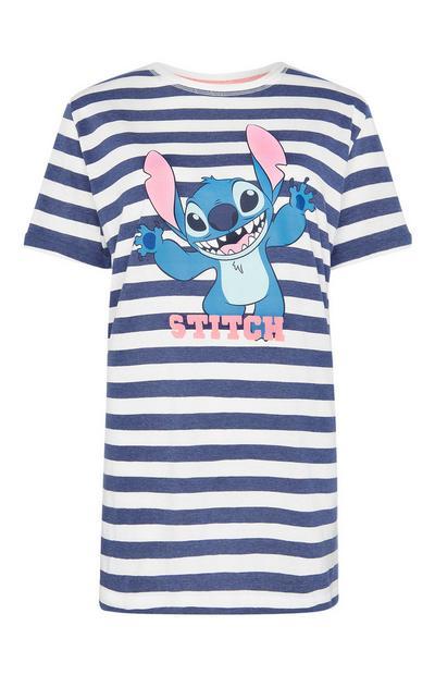 Modro-bela črtasta spalna srajca z Žverco