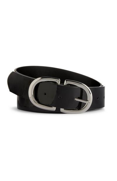 Black Patent Belt