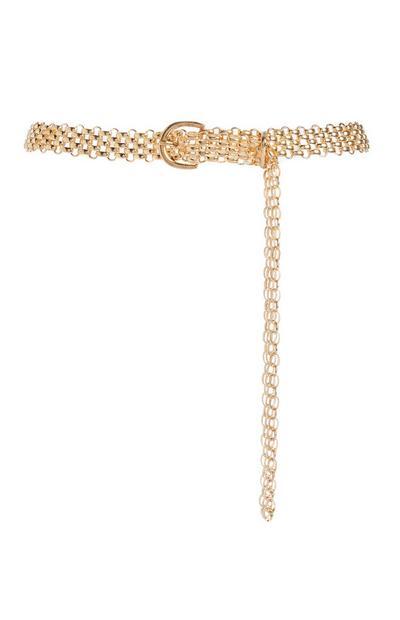 Cinturón dorado de cadena