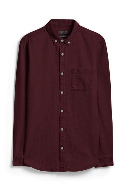 Burgundy Denim Shirt