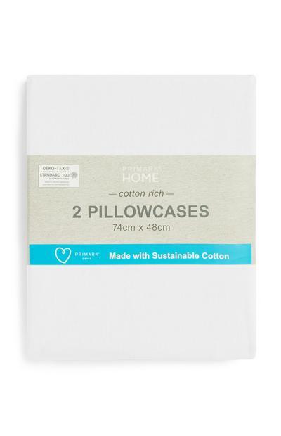Kopfkissenbezüge aus nachhaltiger Baumwolle, 2er-Pack