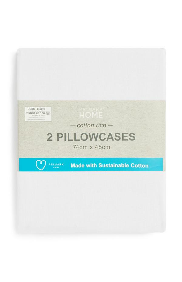 Lot de 2taies d'oreiller en coton durable