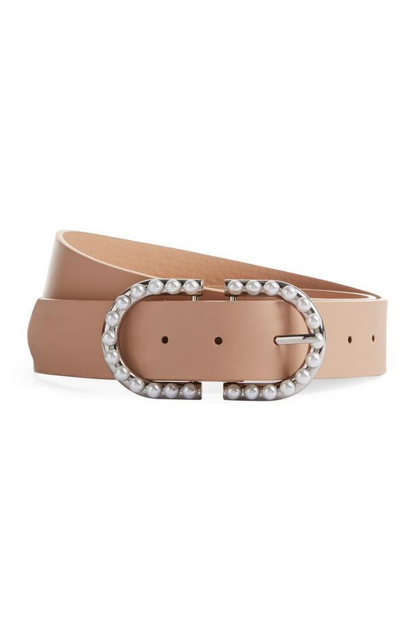 Cintura color carne con perle