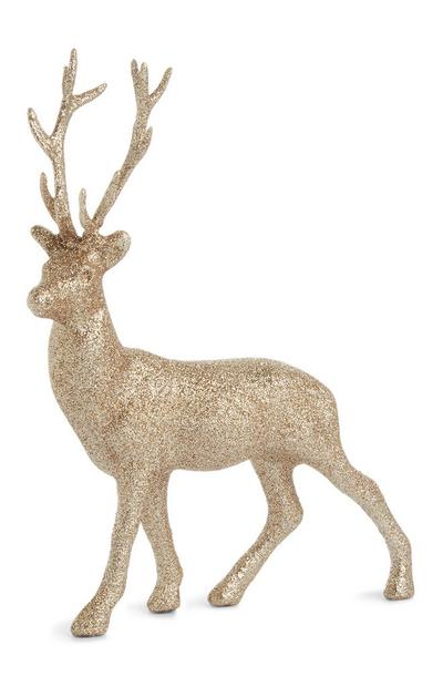 Small Gold Glitter Stag