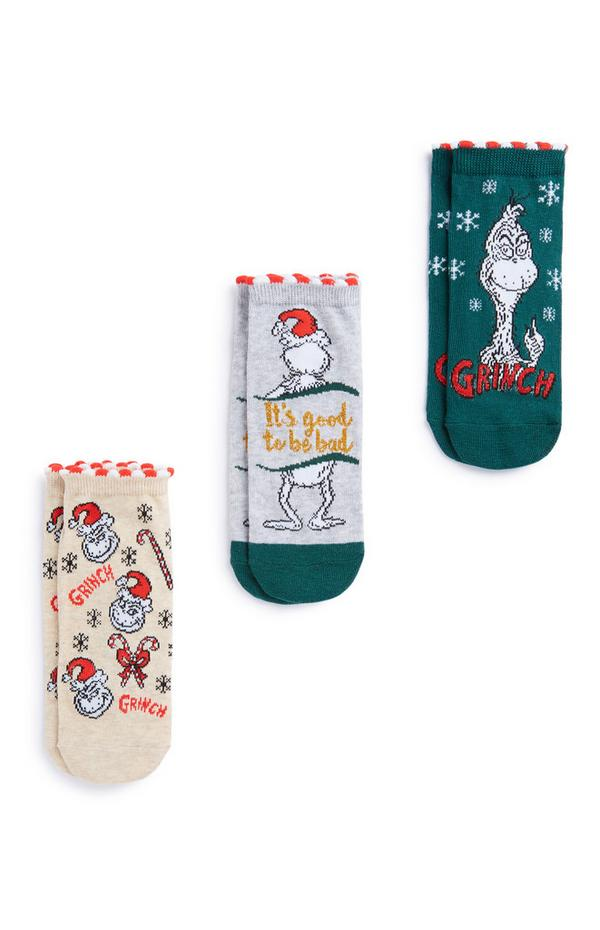 """Grinch"" Socken, 3er-Pack"