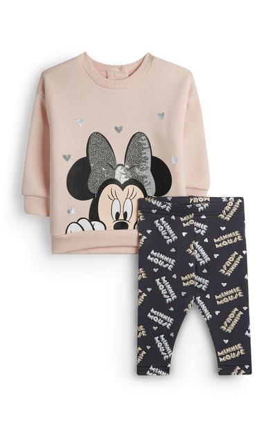 Minnie Mouse-babytrui en -legging voor meisjes